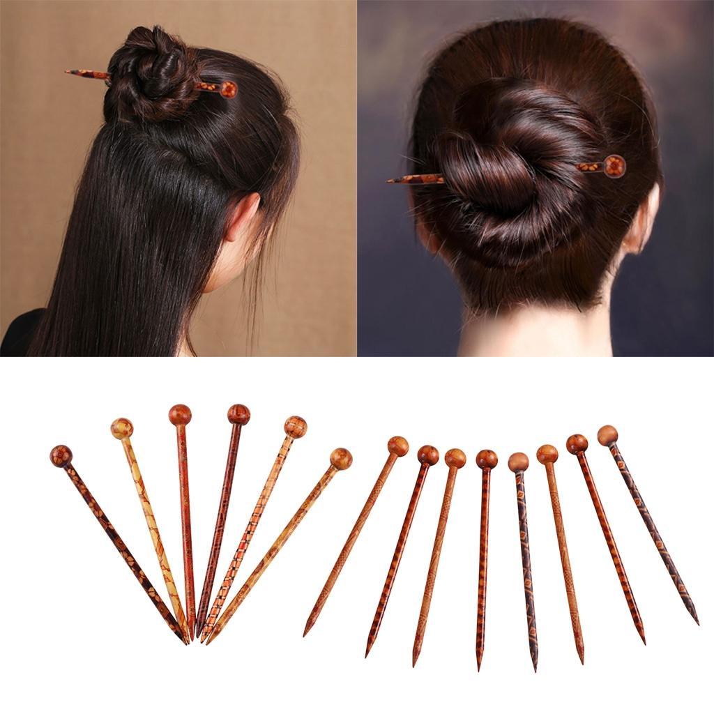 Women Jewelry Hairstick Wooden Hairpin Hair Decor Fashion Gift Retro Hot Sale US