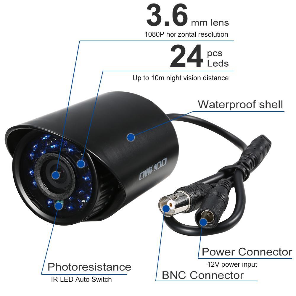 Owsoo 1080p 2mp Ahd Ir Led Bullet Cctv Security Camera Outdoor Night Kamera Dummy 1 Of 13