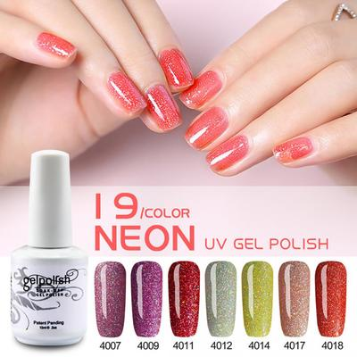 DIY Women Fashion Nail Beauty Neon Star Nail Polish Fast Dry