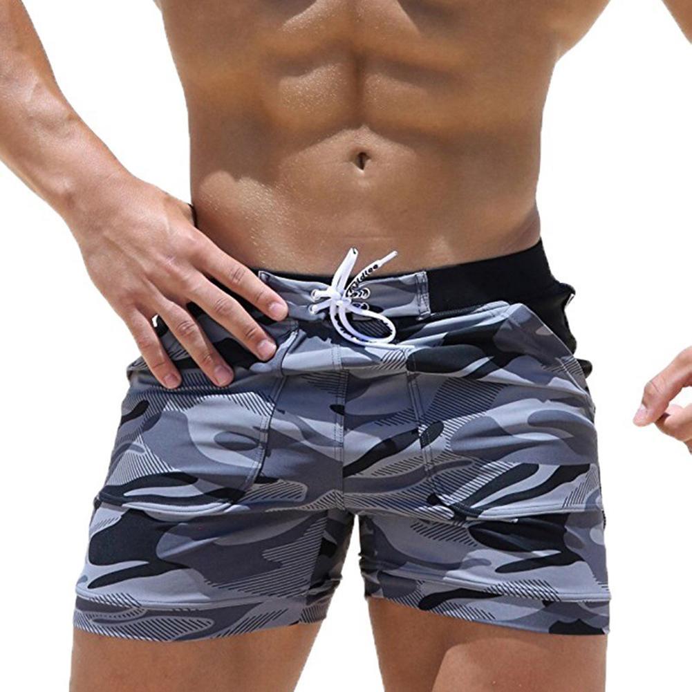 Masculino Calças respirável Sunga Shorts Shorts Praia Impresso Camuflagem