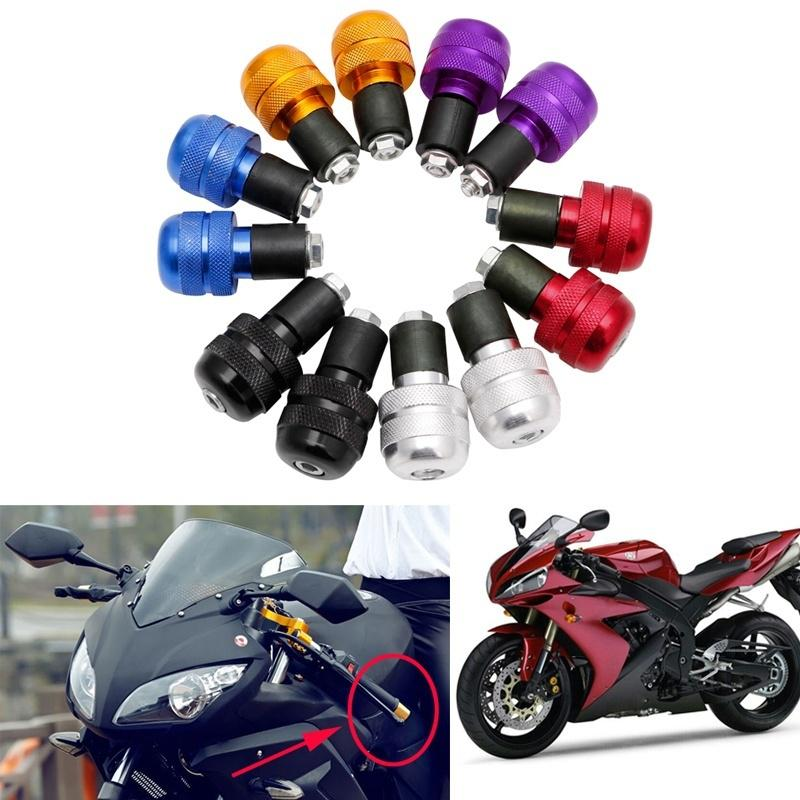 2 PCS Motorcycle Handlebar Weight Balance Stabilizers Anti Vibration Handle Bar End Grip Ends Caps
