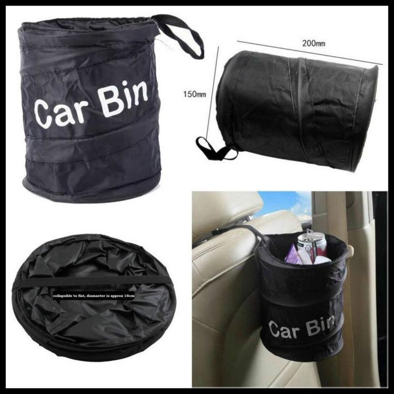 Foldable Car Bin Auto RV Trash Bag Wastebasket Can Litter Container Garbage Bin