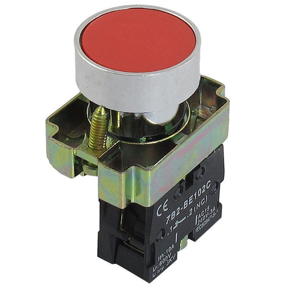 1PCS 220V//AC 10 A Enganche On//Off Interruptor Giratorio 2 posiciones 1NO 22 mm de montaje del panel