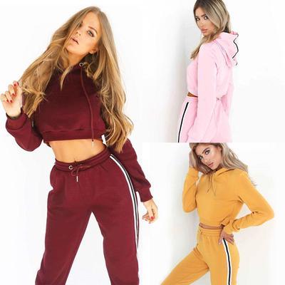 30462708c5 Hot Women Ladies Tracksuit Suit Pants Sets 2Pcs Sport Wear Casual ...
