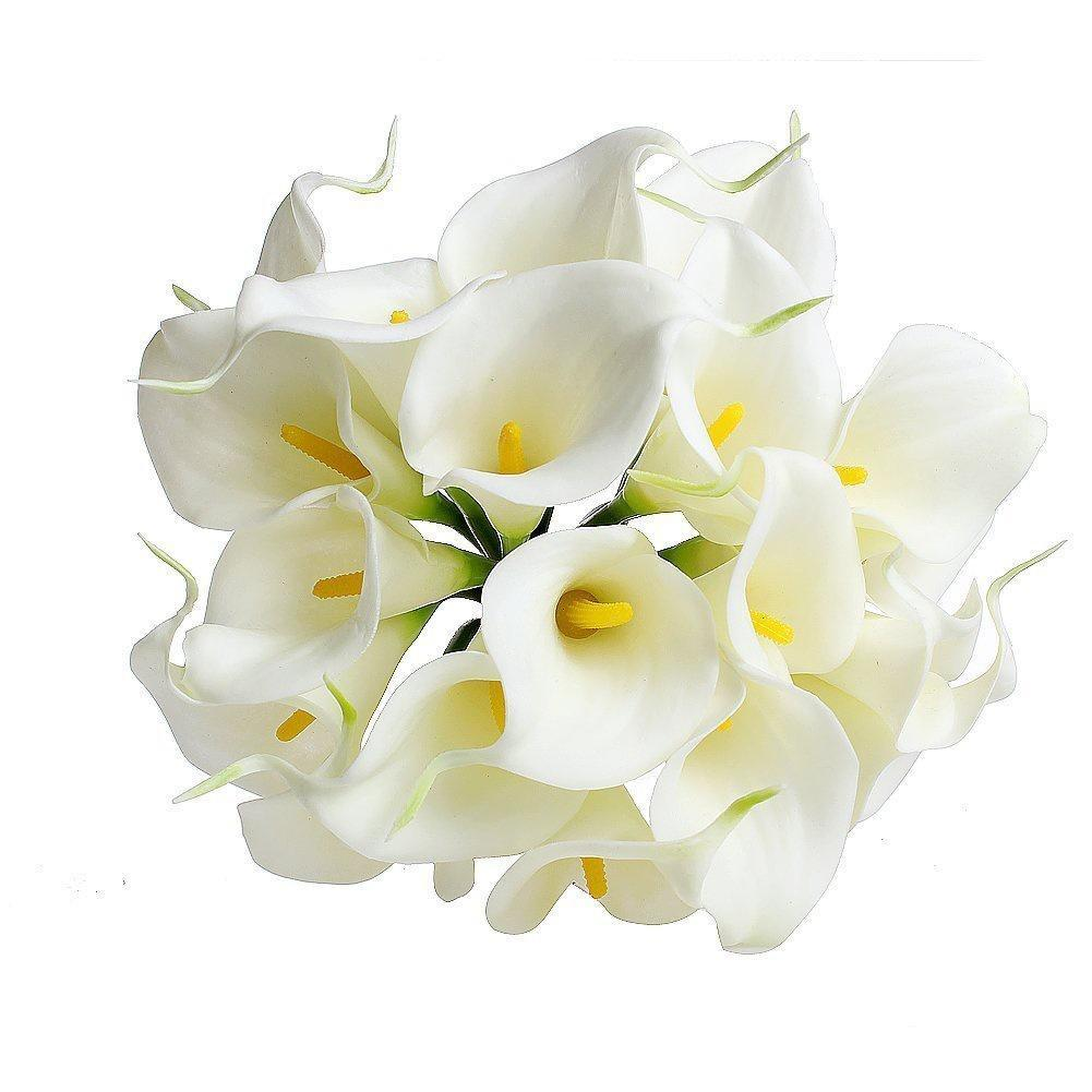 10pcs artificial fake ivory calla lilies flowers home decoration buy 1 of 11 izmirmasajfo