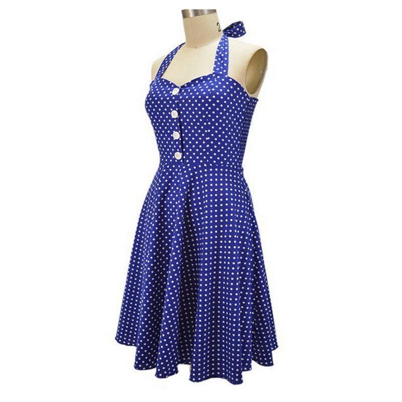 Vestidos Vintage para mujer estilo años 1940 Retro Rockabilly noche ...