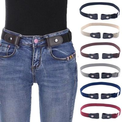 Fashion Adjustable Invisible Lazy Buckle-Free Elastic Waist Belt No Hassle Belt Stretchy Jeans Pants Women Dress Waistband