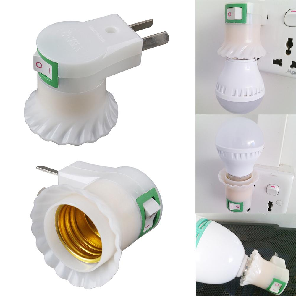 Plug Adapter Lamp Bases Practical Screw Cap E27 Ceiling Light Bulb Holder Wall