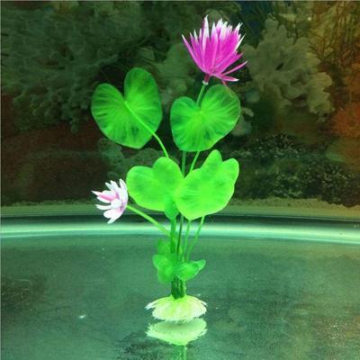 Plastic Artificial Lotus Flower Grass Plant Aquarium Fish Tank