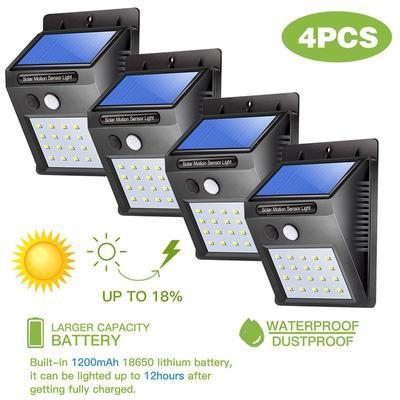 20 LED Solar Power Motion Sensor Wall Light Outdoor Waterproof Garden Park Lamp
