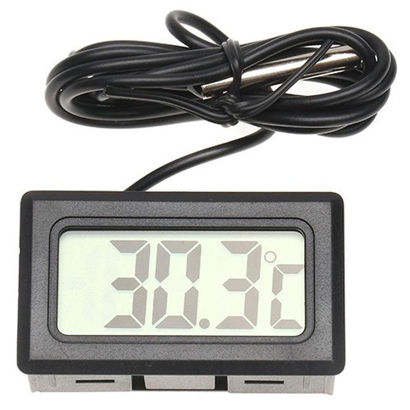 Display digitale elettronico termometro digitale serbatoio pesci refrigeratore misuratore di temperatura dellacqua termometro sonda impermeabile nero