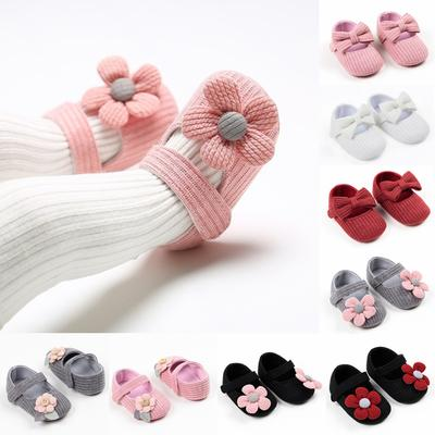 1 Pair Girl Baby Baby Shoes Soft Soled Baby First Walkers Flower Princess Shoes Bowknot