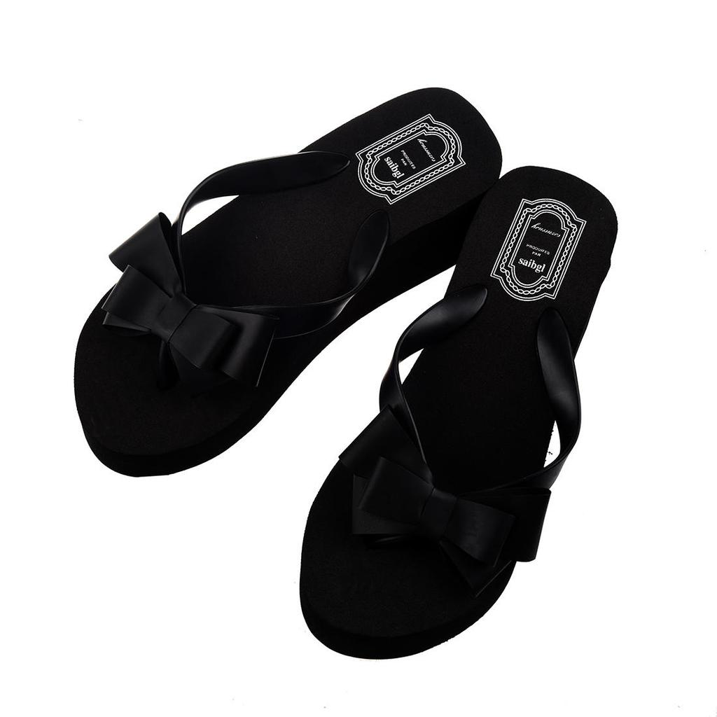 6bad2dd8c05 Ladies Summer Platform Flip Flops Thong Wedge Beach Sandals Knot Bow Shoes-buy  at a low prices on Joom e-commerce platform