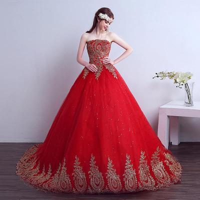 Ropa De Boda De La Novia Vestido De Novia Rojo Comprar A