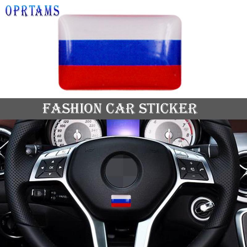 Наклейка Флаг России фото