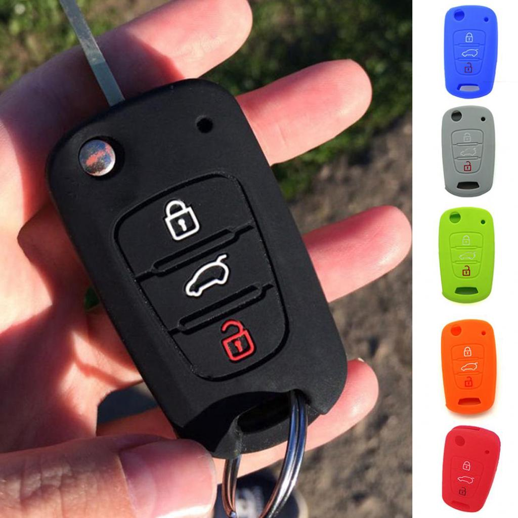 kwmobile Car Key Cover Compatible with Hyundai 3 Button ...