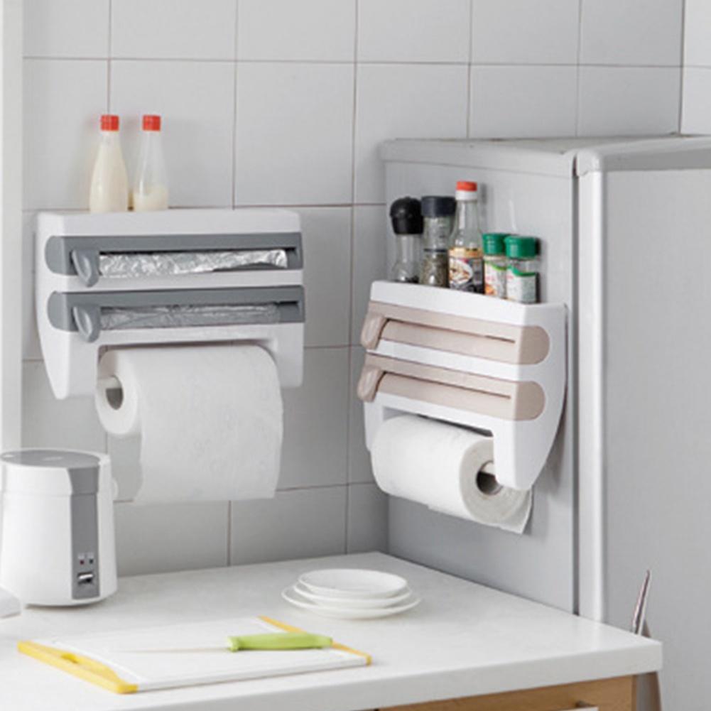 Küche-Handwerk 3 in 1-Klarsichtfolie, Folie & Küche Rollen Halter ...