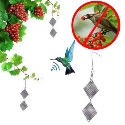 2pcs Fake Owl Bird Scare Repellent Reflective Hanging Device