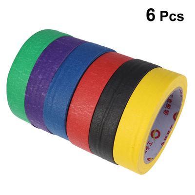 6pcs Long Ribbon Multifunctional Silk Ribbon Craft Wire Cord Strings Colored