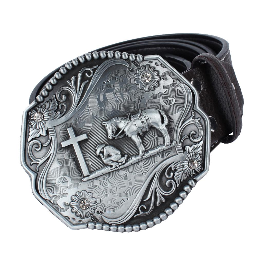 Indian Hip Hop Western Cowboy Native American Knights Pattern Belt Buckle