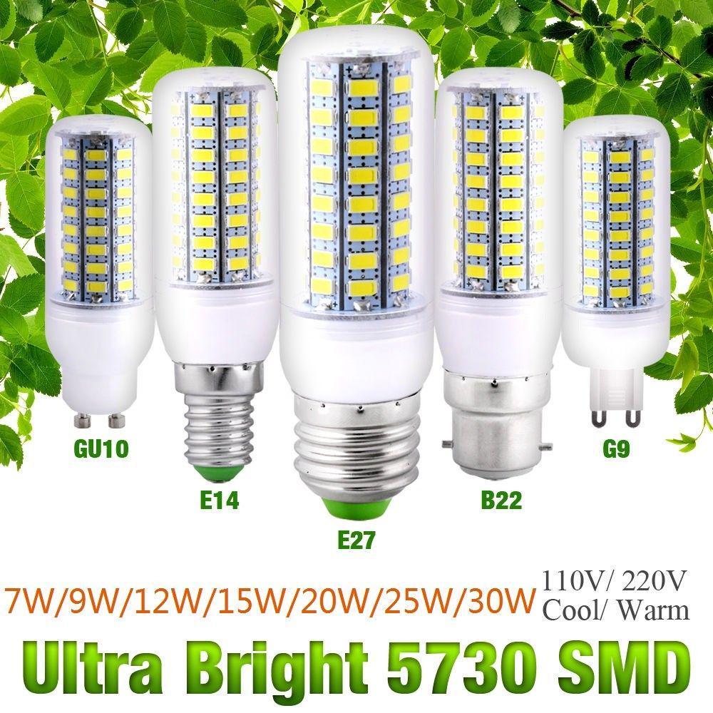 7//9//12//15//20//25W 5730 LED Corn Bulb G9 Cool//Warm Milky White 220V Bright Lamp 0