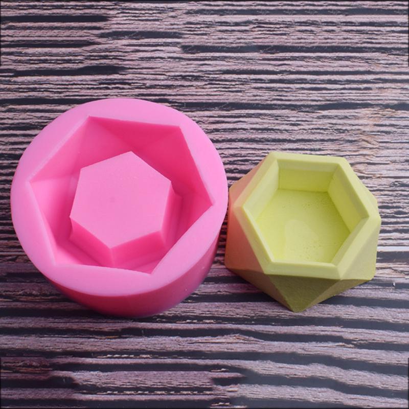 3D Silicone Flowerpot Concrete Mould Cement Pot DIY Plaster Molds Tool