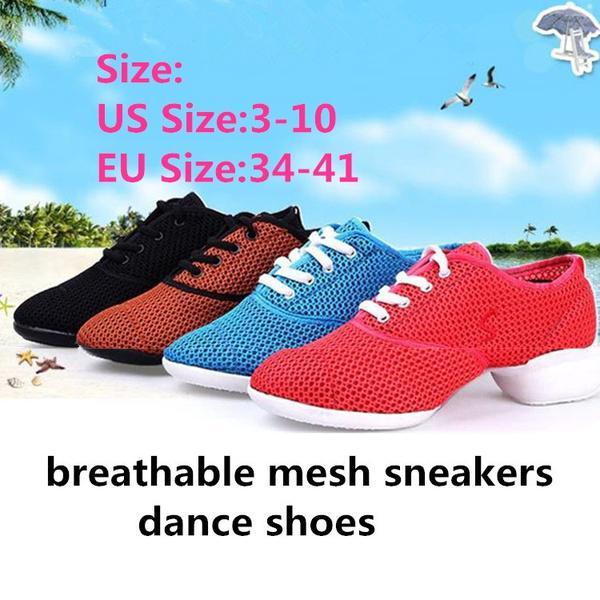 1f80e13186335 Zapatos de baile mujeres jazz hip hop salsa zapatillas de deporte mujeres  nuestro tamaño 3 10 grande