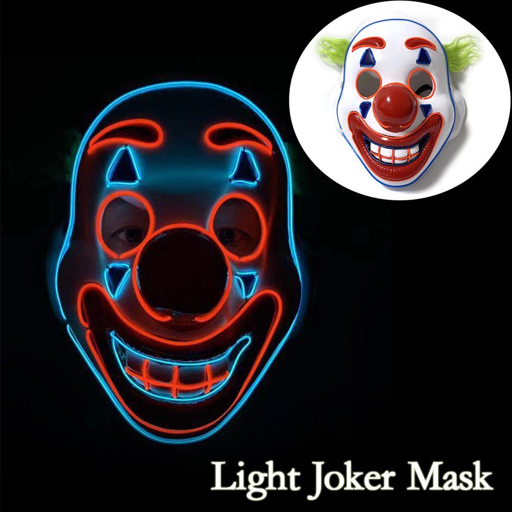 Cosplay DC Movie Joker Arthur Fleck Mask Clown Masquerade New Mask Hallowee U6Z5