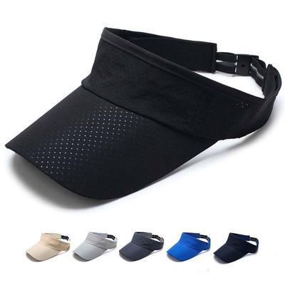 933eb2750a842 Visor Cap Summer Thin Mesh Men Women Quick Dry Breathable Sun Hat Golf  Tennis Sportswear