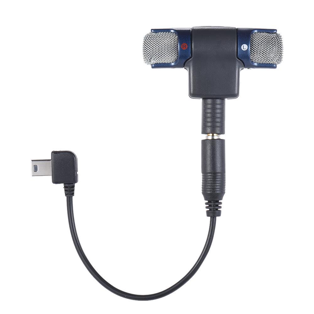 3,5mm Externe Stereo Mikrofon Mini USB Mic Adapter Kabel für GoPro Hero 3 4