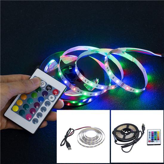 LED Strip Light USB 2835SMD DC5V Гибкая светодиодная лента лампы Лента RGB 1М 2М 3М 4М 4М 5м телевизор настольного экрана BackLight Diode ленты фото