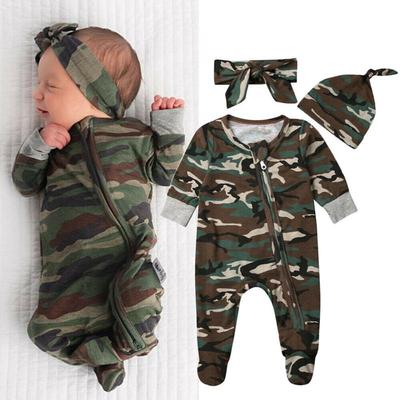 Toddler Baby Boys Girls Camouflage Outfit Set Winter Warm Hooded Top Pants 2pcs Clothes