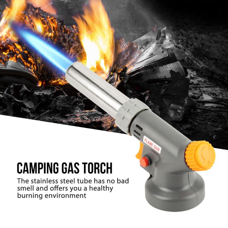 17.5cm Kitchen Camping BBQ Gas Torch Welding Lighter Butane Burner Flame Tool