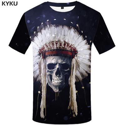 d40b88bdb96c Indian T shirt Men Skull T-shirt 3d Space Galaxy Tshirts Print Feather  Tshirt Anime