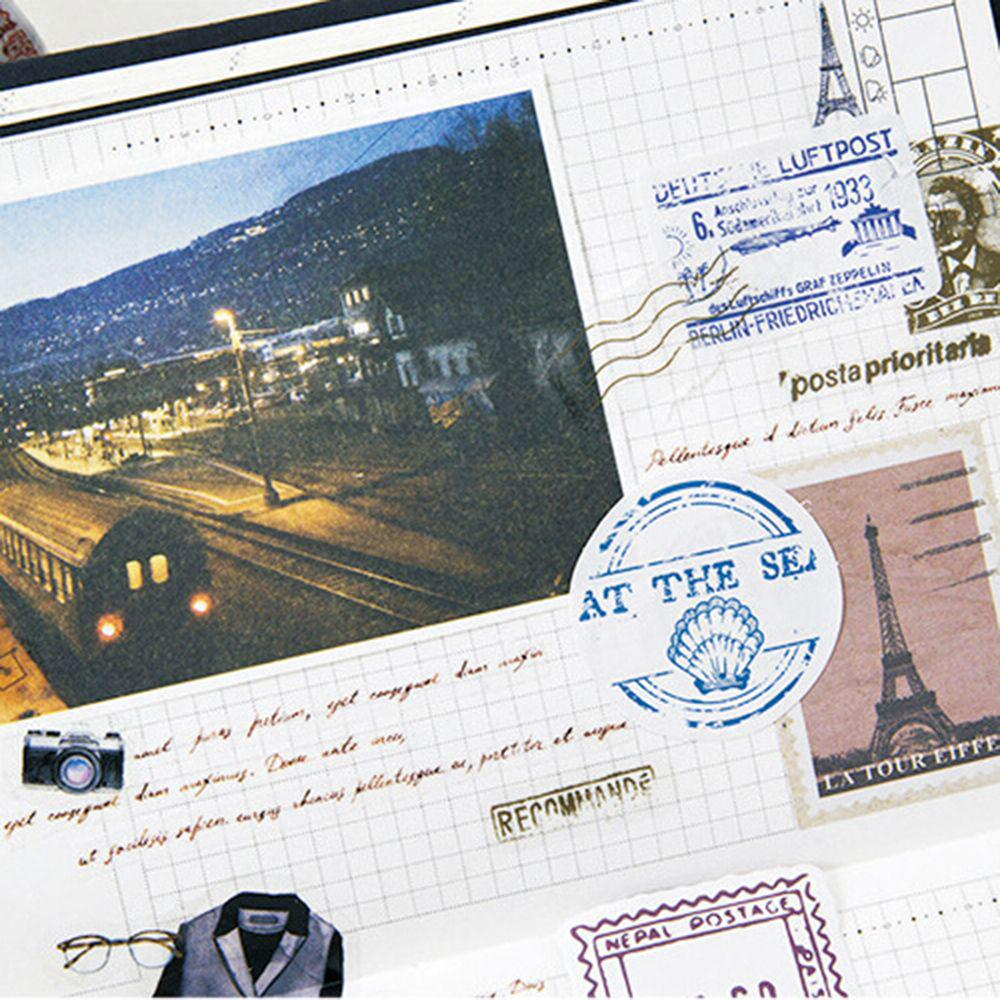 Mini Papel Etiqueta engomada diario de Bricolaje Decoración Pegatina scrapbooki N1E5 M0M0 70 un