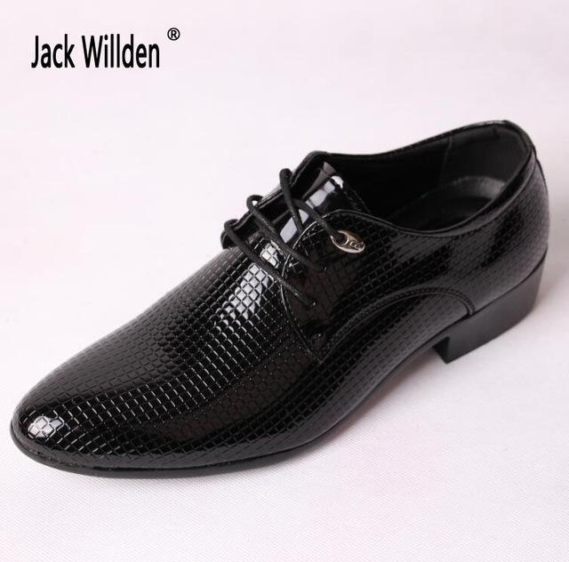 08d16f17bda3f Jack Willden artı boyutu 46 Office adam elbise İtalyan düğün erkek Oxfords  takım elbise Flats deri ayakkabı – online alışveriş sitesi Joom'da ucuza ...