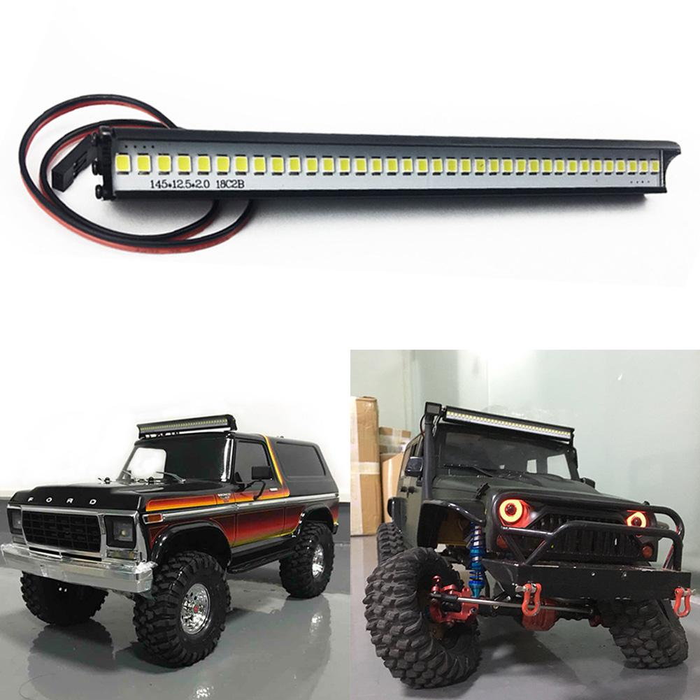 Waterproof Metal 36 LED Lamp Roof Light Bar for Traxxas TRX4 1:10 RC Crawler