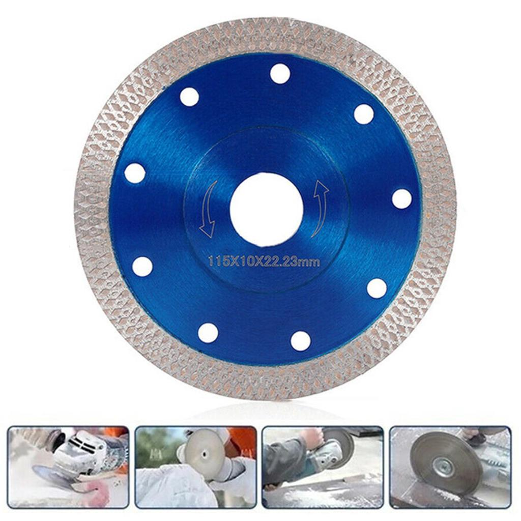 115mm Turbo Tile Diamond Cutting Disc Angle Grinder Blade Porcelain Stone 4.5/""