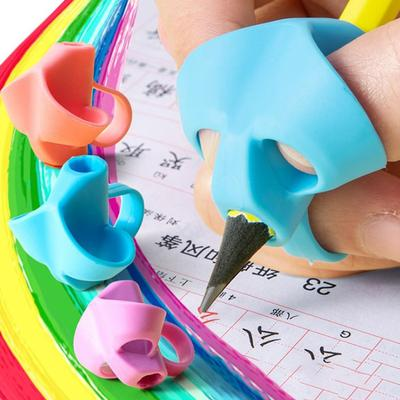 Pencil Grips for Kids Handwriting Writing Aid Grip for Preschoolers Silicone Ergonomic Writing Tool for School Supplies Children