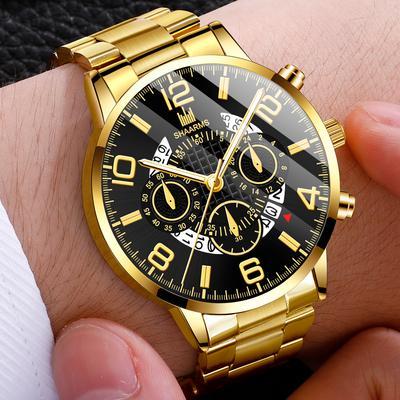Men'S Watch Fashion Stainless Steel Sports Quartz Watch Men'S Casual Wrist Watch
