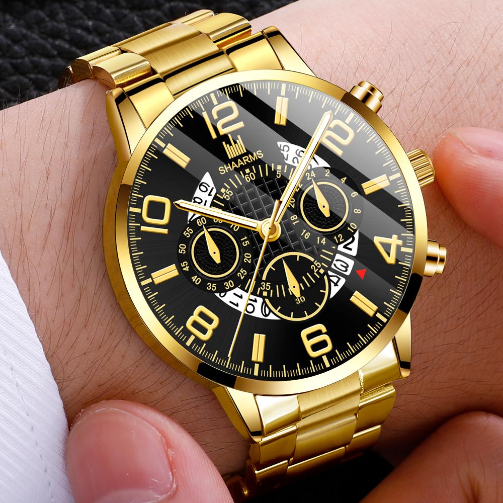Мужские Смотреть Мода нержавеющей стали Спорт Кварц Смотреть Мужские случайные wrist Часы – купить по низким ценам в интернет-магазине Joom