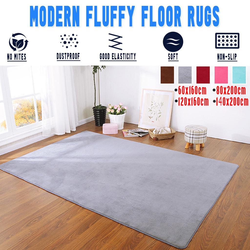 Soft Furry Rug Kids Anti-Skid Living Room Bedroom Carpet Warm Mat Winter Decor