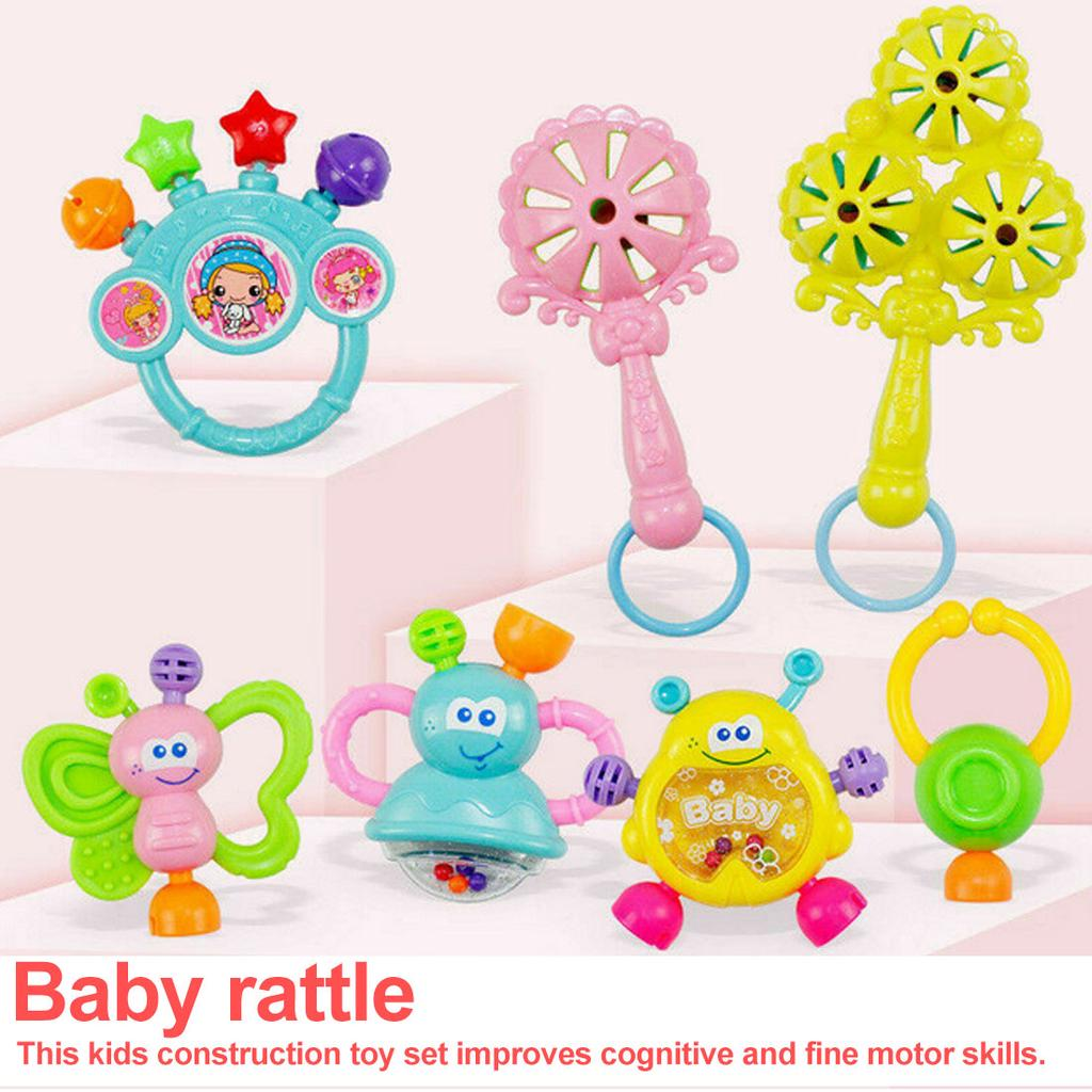 Toddler Baby Shaking Bell Rattles Teether Toys Kids Hand Toys Newborn Gift