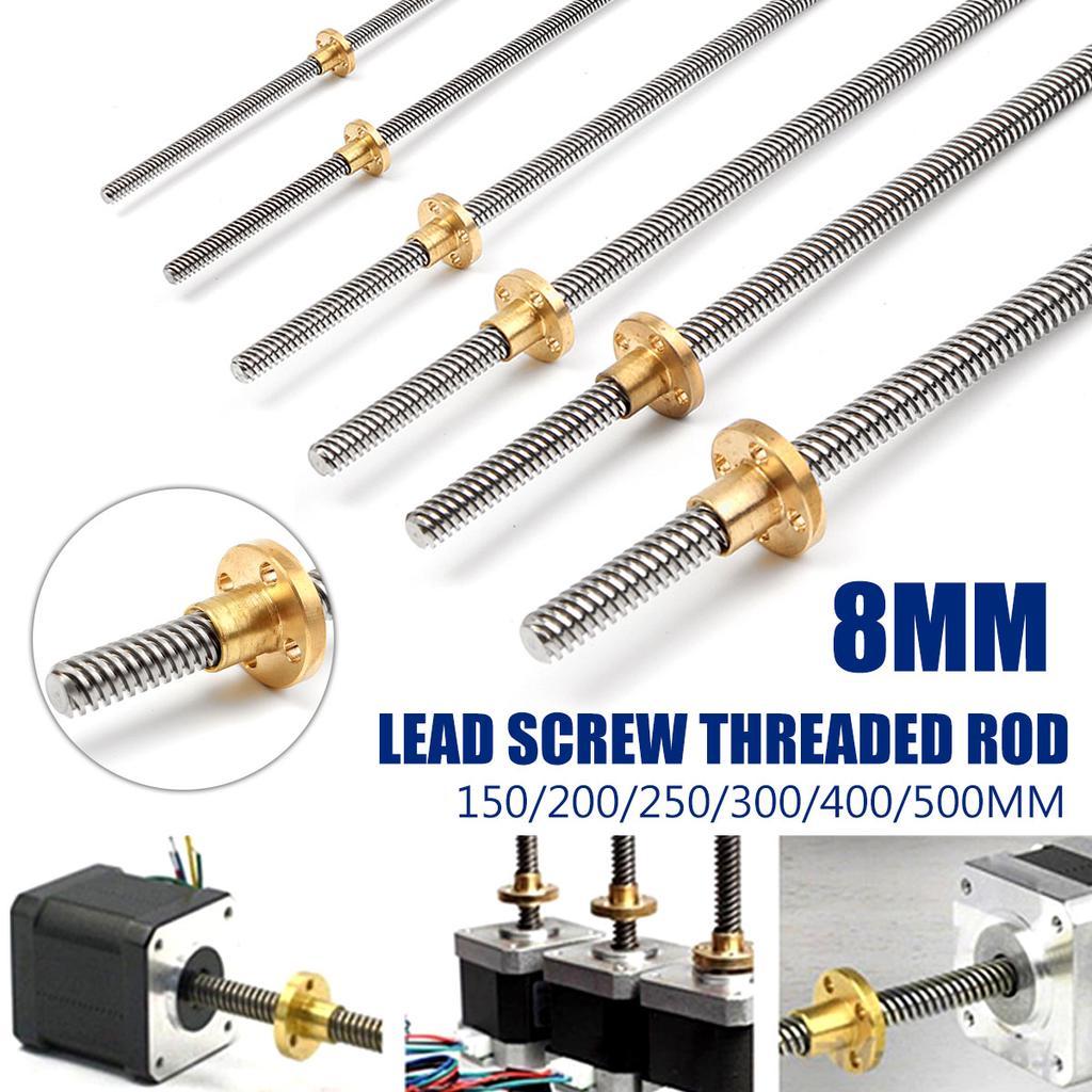 3D Printer 8mm Lead Screw Rod 300mm 4 Start Z Axis 30cm Linear Rail Bar Shaft