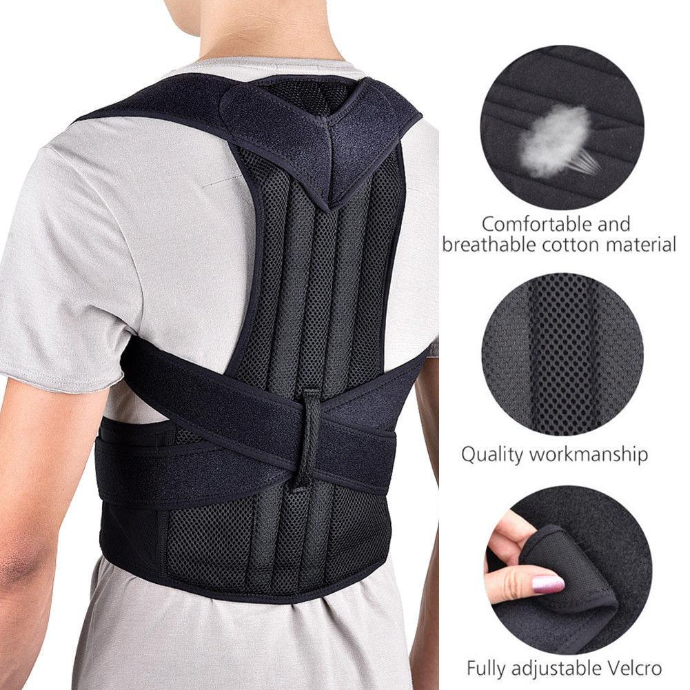 L Magnetic Upper Back Straightener Posture Corrector for Women /& Men Adjustable Back Support Brace with Lumbar Waist Support
