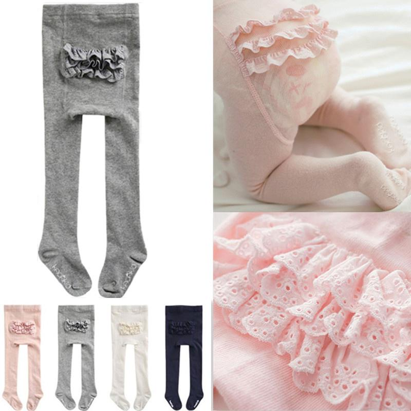 Autumn Girls Tights Cartoon Cute Baby Girl Tights Cotton Knitted Cotton Cute