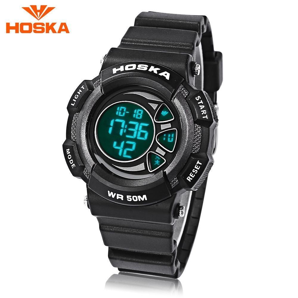 596c4da67566 HOSKA H020S niños LED Digital reloj 5ATM día fecha pantalla reloj de pulsera  - comprar a precios bajos en la tienda en línea Joom