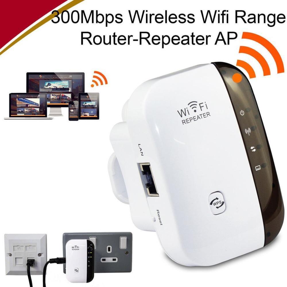 UK//EU//US Plug,Black Wireless WiFi Repeater WiFi Range Extender Router Wi-Fi Signal Amplifier 300Mbps WiFi Booster 2.4G Wi Fi Ultraboost Access Point