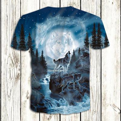dc3f6c2175be Exquisite T Shirt Mens 3D Print Tshirt Clothes Fashion Wolf Animal Causul T- Shirts