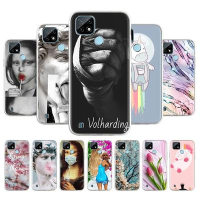 Soft TPU Phone Case For OPPO Realme C21 RealmeC21 Cover Anti-fall Anti-dust Bumper Phone Back Shell Protection Funda Coque